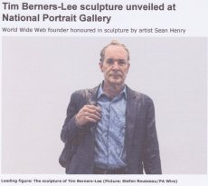"""Tim Berners-Lee sculpture unveiled at National Portrait Gallery"""
